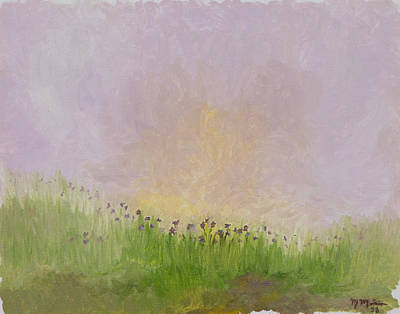 Painting - Iris Field by Mark Minier