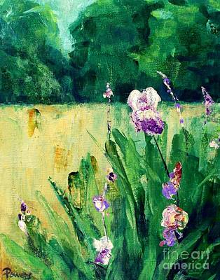 Art Print featuring the painting Iris Field by Mary Lynne Powers