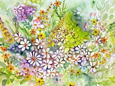 Iris Fields Art Print by Neela Pushparaj