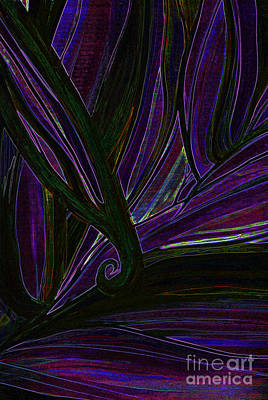 Total Abstract Mixed Media - Iris by First Star Art