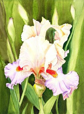 Most Popular Painting - Iris Flower Dancing Petals by Irina Sztukowski