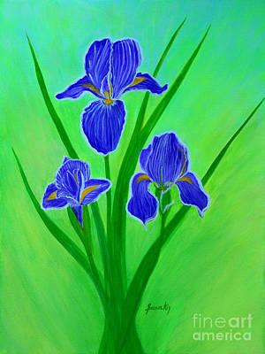 Painting - Iris Flowers. Inspirations Collection. by Oksana Semenchenko