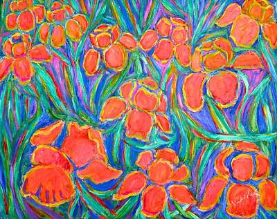 Painting - Iris Frenzy by Kendall Kessler