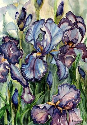 Painting - Iris Garden by Barbara Jewell