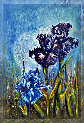 Iris Art Print by Harsh Malik