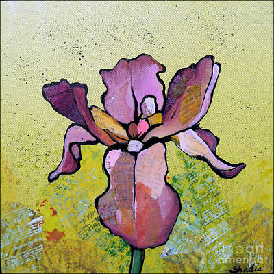 Acrylic Painting - Iris II by Shadia Derbyshire