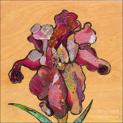 Irises Painting - Iris IIi - Series II by Shadia Derbyshire
