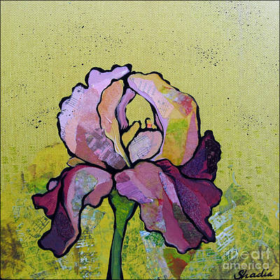 Irises Painting - Iris IIi by Shadia Derbyshire