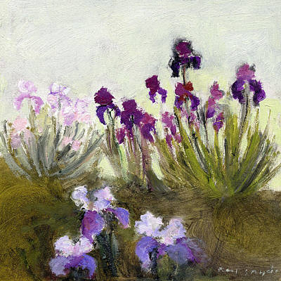 Painting - Iris In The Yard by J Reifsnyder