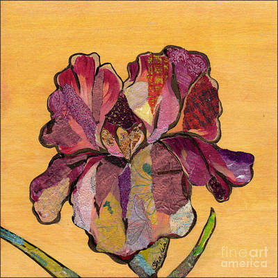 Irises Painting - Iris Iv - Series II by Shadia Derbyshire