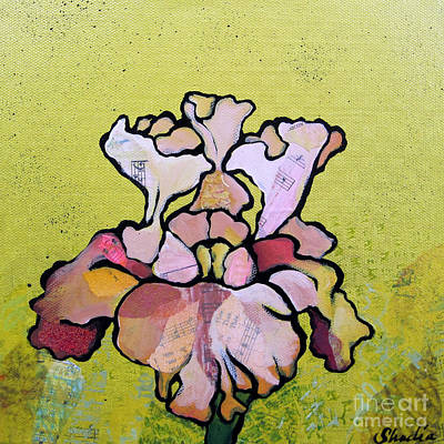 Irises Painting - Iris Iv by Shadia Derbyshire