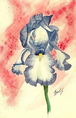 Painting - Iris by Lew Davis