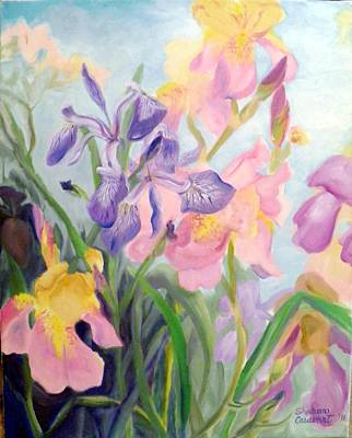 Painting - Iris Medley by Sharon Casavant
