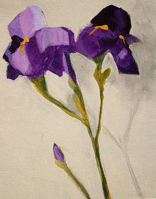 Painting - Iris by Nancy Merkle