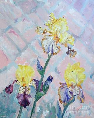 Painting - Iris On A Brick Path by Lizi Beard-Ward