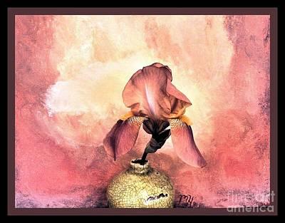 Digital Paint Photograph - Iris On Fire by Marsha Heiken