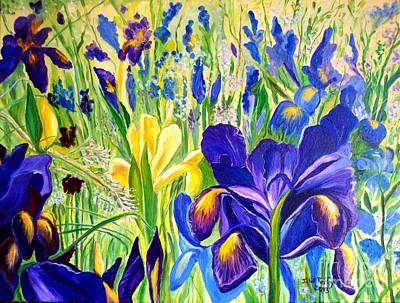 Iris Spring Art Print by Julie Brugh Riffey
