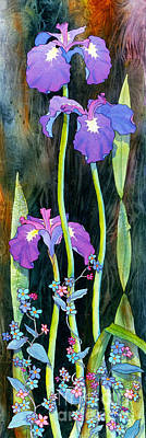 Art Print featuring the painting Iris Tall And Slim by Teresa Ascone