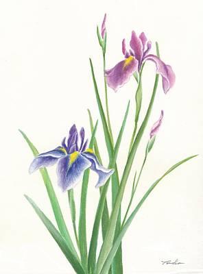 Sakura Painting - Iris by Tomoko Koyama