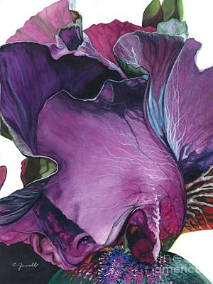 Painting - Iris- Unfolding Drama by Barbara Jewell