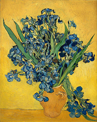 Interior Still Life Painting - Iris by Mountain Dreams