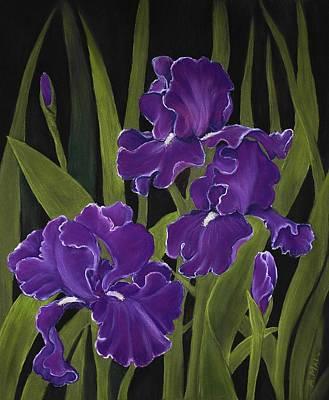 Anastasiya Painting - Irises by Anastasiya Malakhova