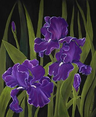 Painting - Irises by Anastasiya Malakhova