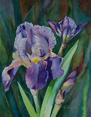 Irises Art Print by Barbara Carswell