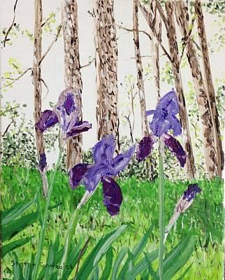 Arkansas Painting - Irises Eureka Springs by Sharon  De Vore