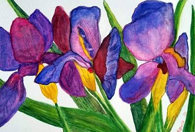 Painting - Irises by Gerry Smith