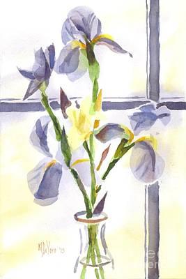 Daffodils Painting - Irises In The Window II by Kip DeVore