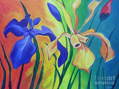 Painting - Irises by Sandra Yuen MacKay