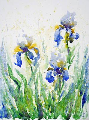 Painting - Irises by Zaira Dzhaubaeva