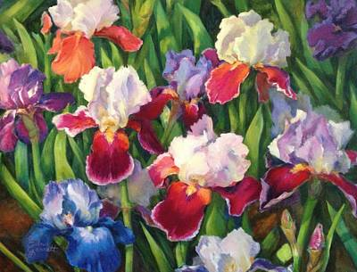 Painting - Irises2 by Edna Garrett