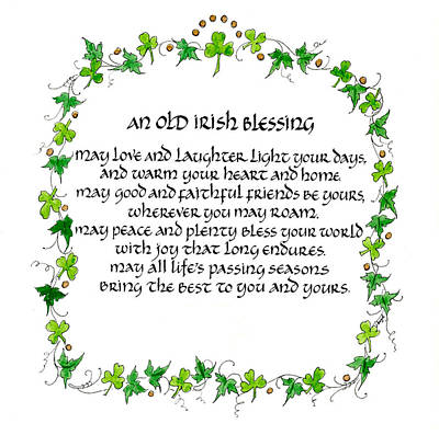Laughter Mixed Media - Irish Blessing by Jan Boyd