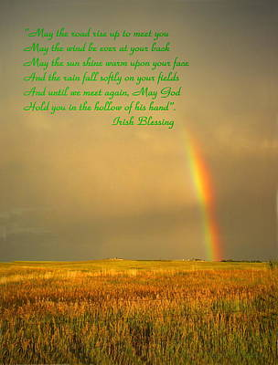 Photograph - Irish Blessing Rain On The Prairie by Joyce Dickens