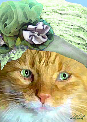 Orange Tabby Digital Art - Irish Cat by Michele Avanti