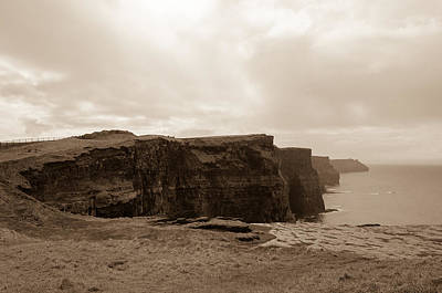 Cliffs Photograph - Irish Cliffs by AMB Fine Art Photography