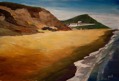 Office Wall Painting - Irish Coast Near County Wexford by M Bleichner
