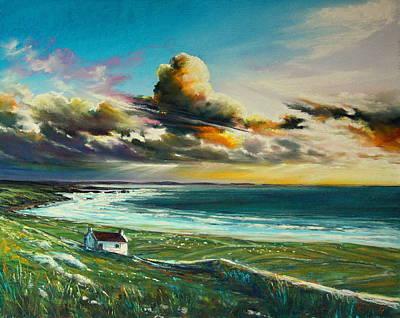 Irish Coastline Art Print by Roman Burgan