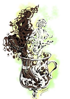 Digital Art - Irish Coffee by Karen  Renee