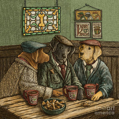 Retrievers Mixed Media - Irish Coffee by Kathleen Harte Gilsenan