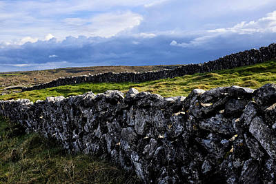 Photograph - Irish Dry Stone Wall by Fabrizio Troiani