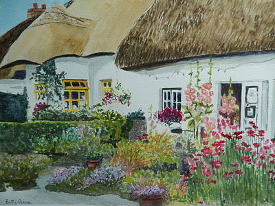 Irish Garden Art Print by Betty-Anne McDonald