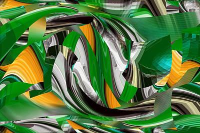 Digital Art - Irish Green Abstract - Abstract Art Rd by rd Erickson