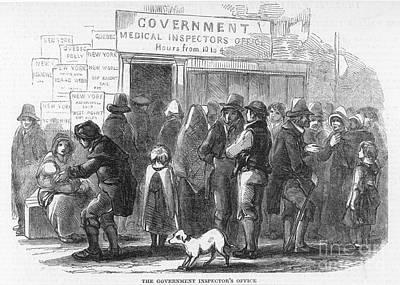 Photograph - Irish Immigration by Granger