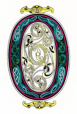 Drawing - Irish Initial 'o' by Granger