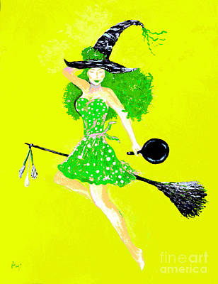 Irish Kitchen Witch Art Print by Alys Caviness-Gober