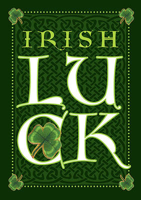 St Painting - Irish Luck by Tammy Apple