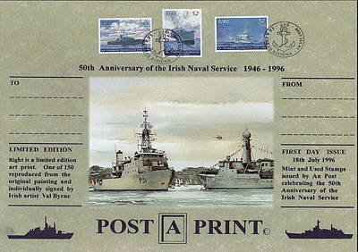 Irish Naval Service 75 Year Commemoration Art Print